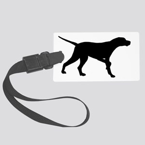 Pointer Dog On Point Large Luggage Tag